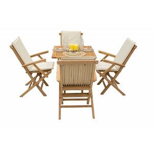 DEOKORK Záhradný ratanový stôl GINA 80x80 cm (sivo-béžový)